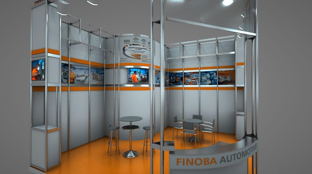 Finoba Automotive Rendering Messestand