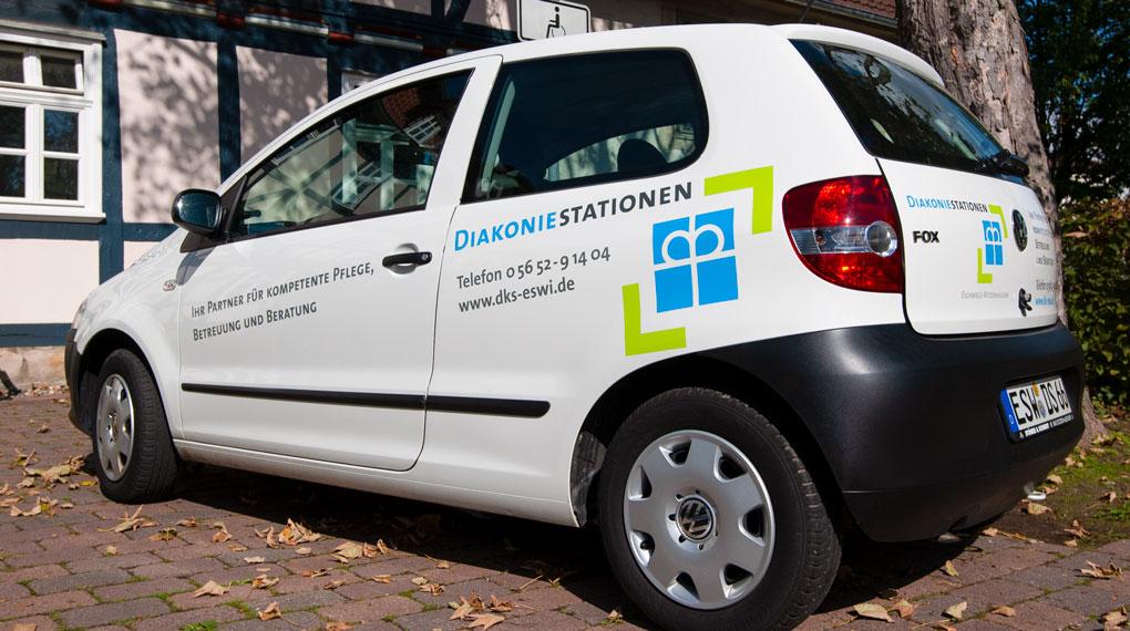 Fahrzeugbeschriftung Diakoniestationen
