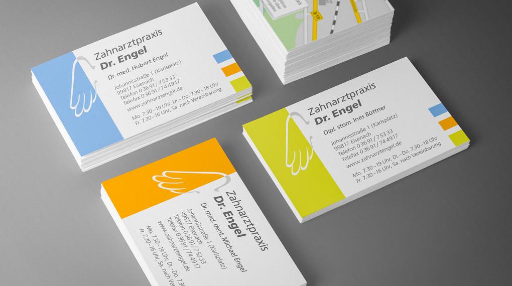 Visitenkarten Praxis Drs. Engel