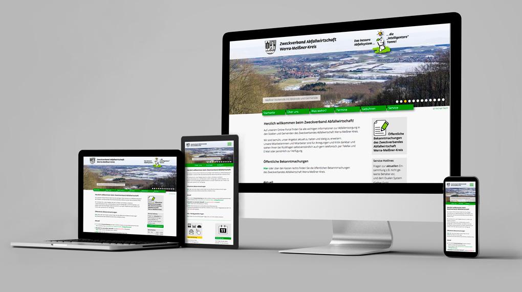 responsive Webdesign Zweckverband Abfallwirtschaft WMK