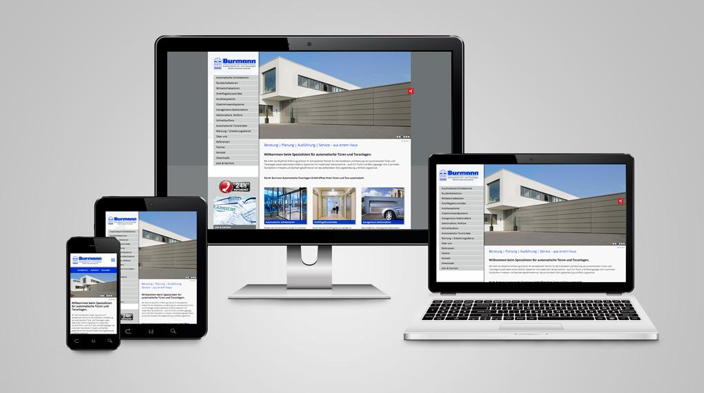 responsive Webdesign Burmann Automatische Türanlagen