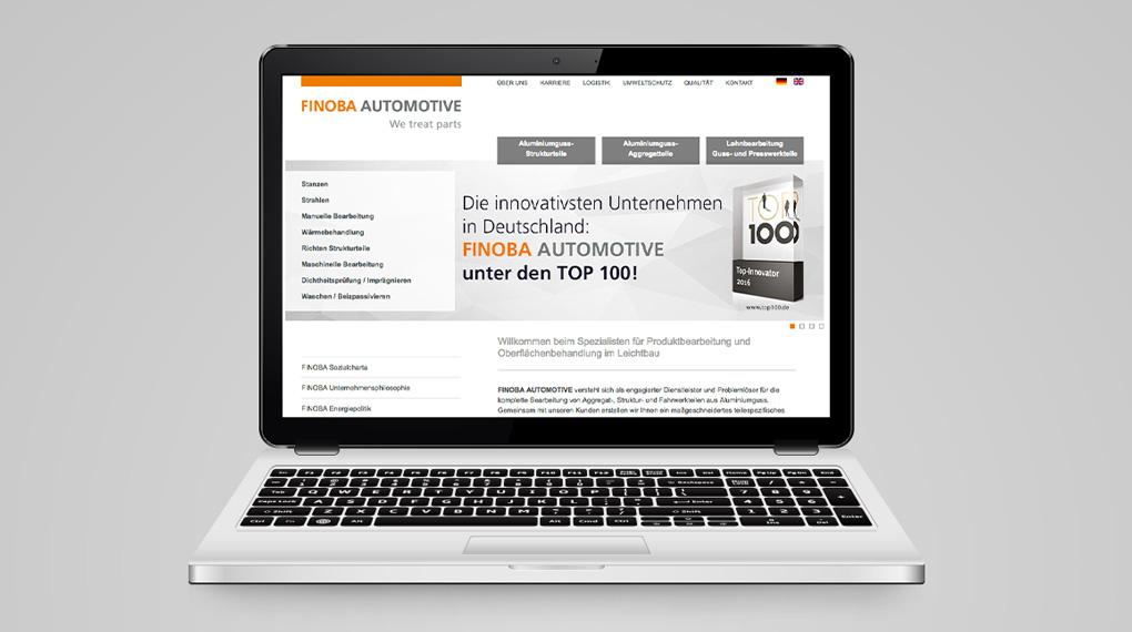 Webdesign für die FINOBA AUTOMOTIVE GmbH