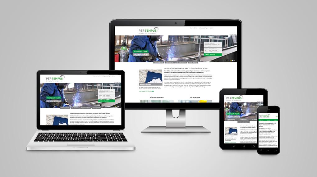 responsive Webdesign Per-Tempus GmbH