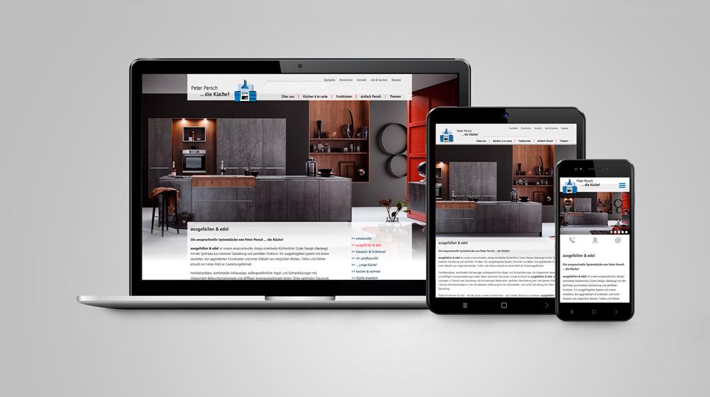 responsive Website für die Persch Küchen GmbH