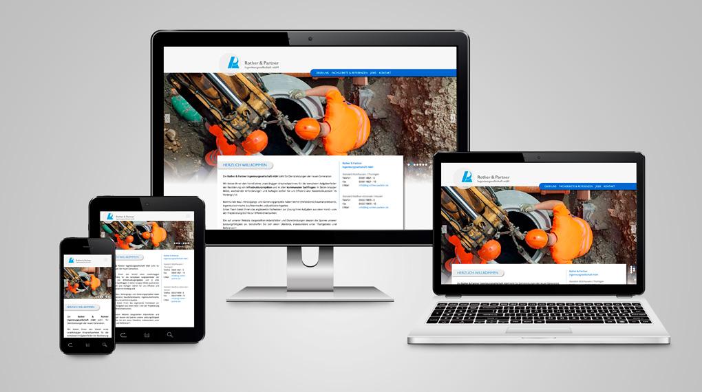 responsive Webdesign Ingenieurbüro Rother & Partner