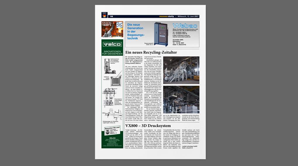 ANTROK PR messe daily Ausgabe 13. Juni 2007