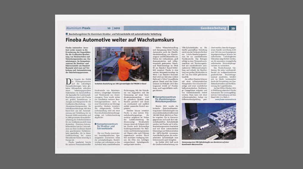 FINOBA PR Aluminium Praxis 10/2012