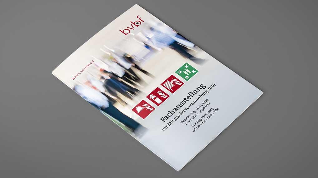 Bundesverband Brandschutz Fachbetriebe Faltblatt Aussteller zur Mitgliederversammlung