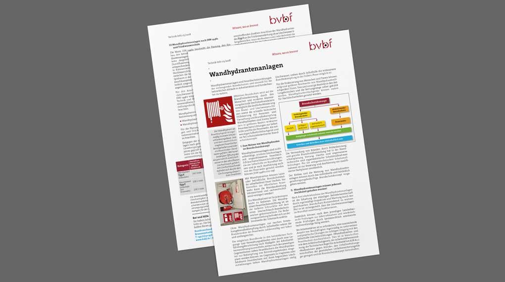 Bundesverband Brandschutz Fachbetriebe Technik Info Wandhydrantenanlagen