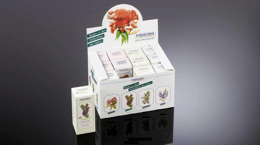 Verkaufsverpackung für Kosmetikprodukte