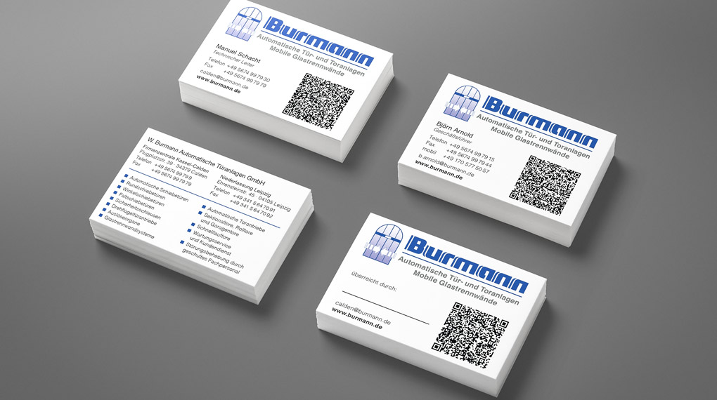 Visitenkarten W. Burmann Automatische Türanlagen GmbH