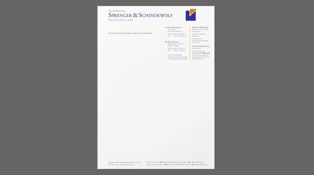Briefbogen | Sprenger & Schindewolf
