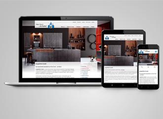 Darstellung Website Persch Küchen GmbH auf unterschiedlichen Ausgabemedien